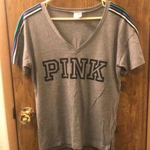 PINK VNeck Tshirt